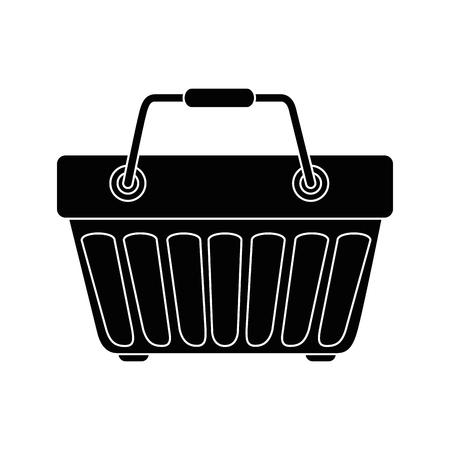 shopping basket icon over white background vector illustration Ilustrace