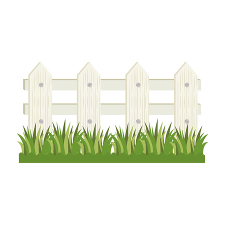 wooden fence icon over white background colorful design vector illustration