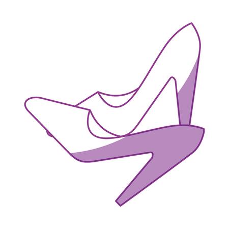 hoge hak schoenen pictogram over witte achtergrond vectorillustratie Stock Illustratie