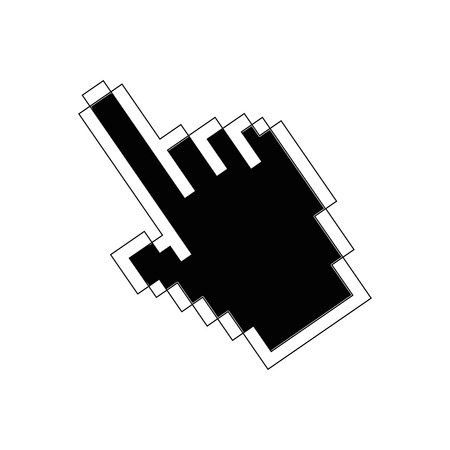 hand cursor icon over white background vector illustration Illustration