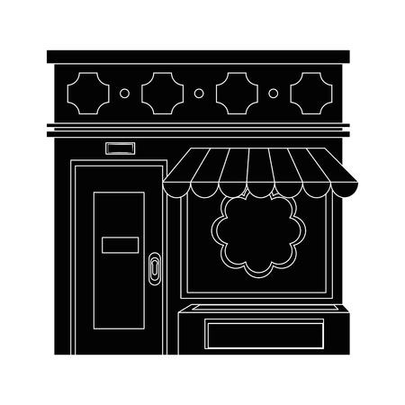 store icon over white background vector illustration Illustration