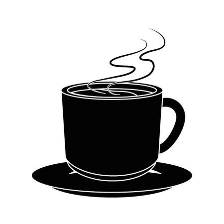coffee mug icon over white background vector illustration Çizim