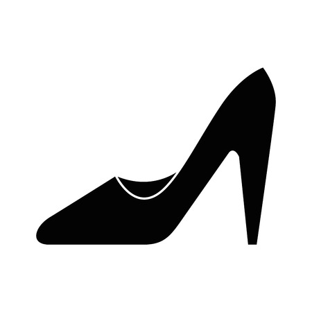 high heel shoes icon over white background vector illustration Imagens - 81140340