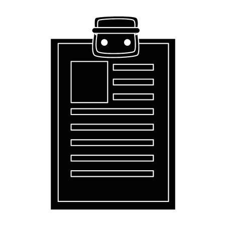 Rapport tabelpictogram over witte achtergrond vectorillustratie Stockfoto - 81140339