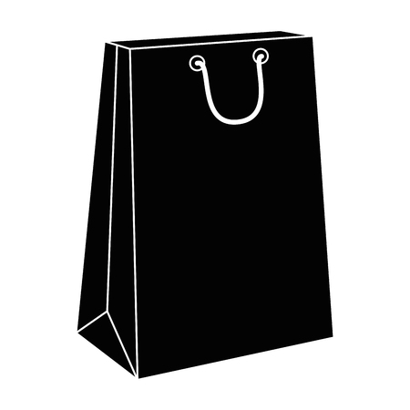 shopping bag icon over white background vector illustration Stock Vector - 81140360