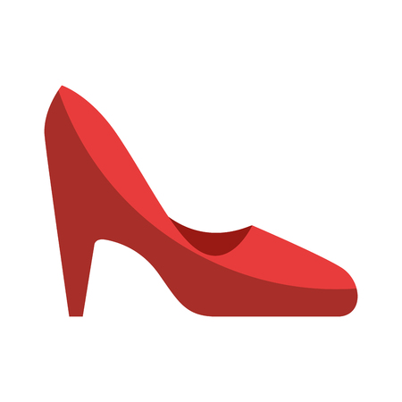 high heel shoes icon over white background vector illustration 向量圖像