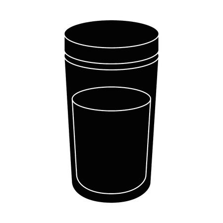 白い背景のベクトル図に水のボトルのアイコン