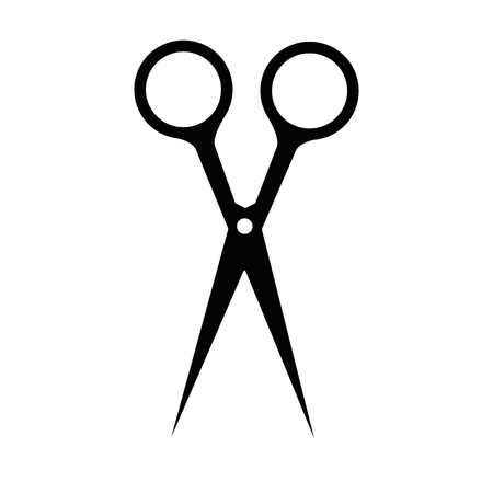 hair scissors icon over white background vector illustration Ilustração