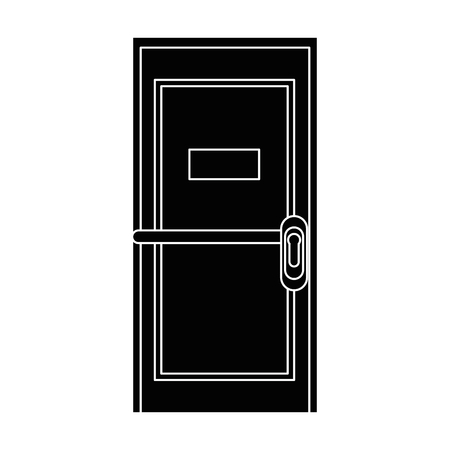 door icon over white background vector illustration Иллюстрация