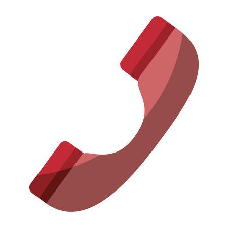 白背景ベクトル イラスト上の電話アイコン