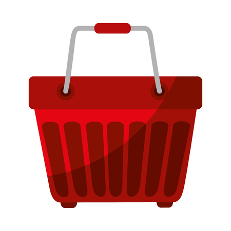 shopping basket icon over white background vector illustration Stock Vector - 81140394
