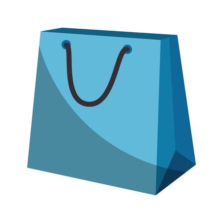 shopping bag icon over white background vector illustration