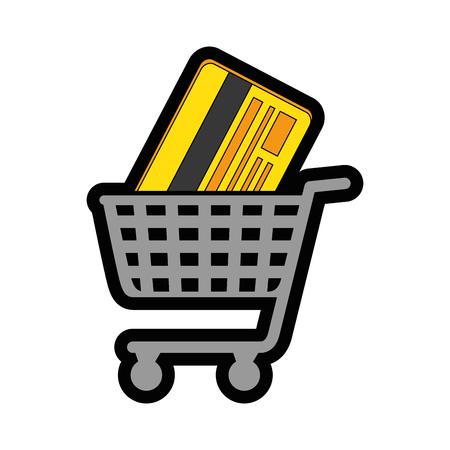 credit card icon over white background colorful design vector illustration Illustration