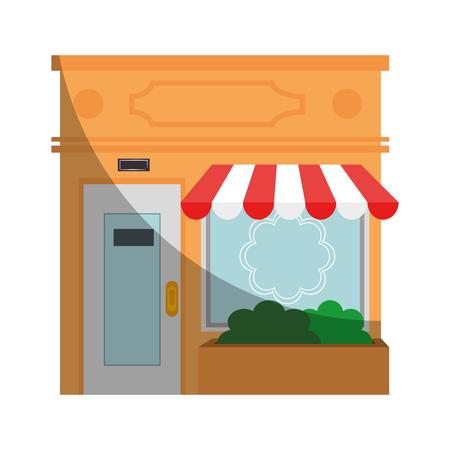 winkel pictogram op witte achtergrond kleurrijke ontwerp vector illustratie