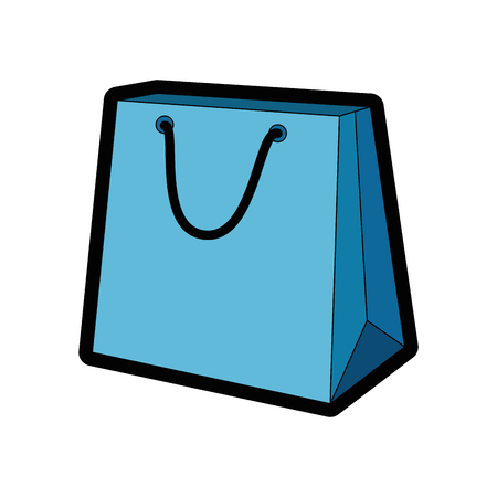 shopping bag icon over white background colorful design vector illustration
