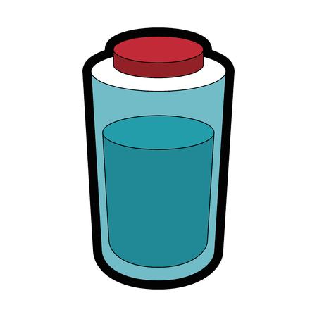 water bottle icon over white background colorful design vector illustration Ilustração