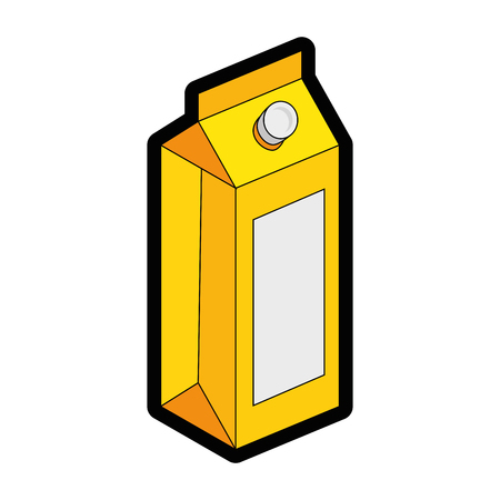 juice box icon over white background colorful design vector illustration