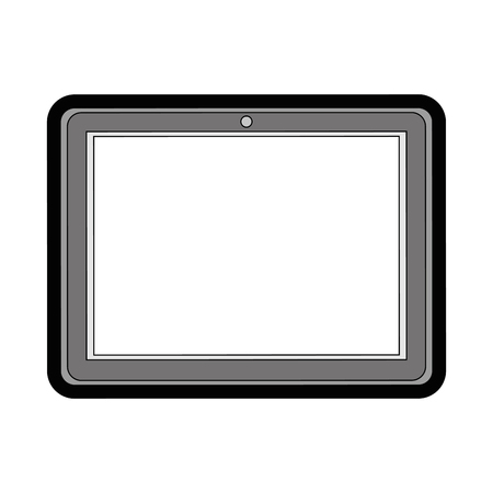 tablet device icon over white background colorful design vector illustration Çizim