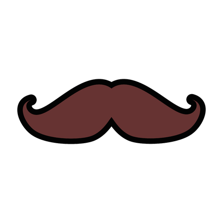 mustache icon over white background colorful design vector illustration Иллюстрация