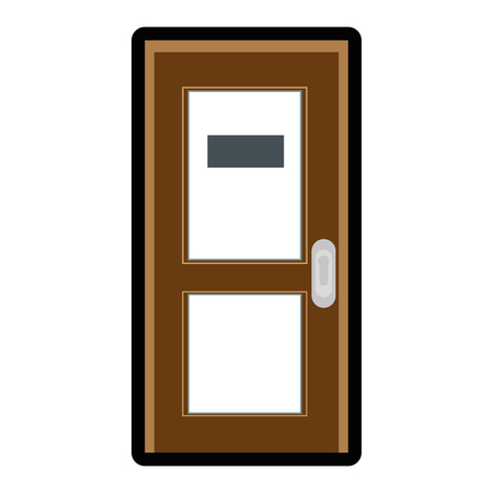 door icon over white background colorful design vector illustration 向量圖像
