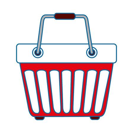 Panier icône sur fond blanc design coloré illustration vectorielle Banque d'images - 81141973