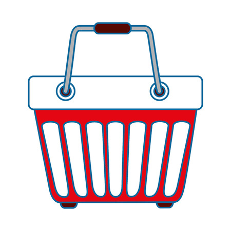 shopping basket icon over white background colorful design vector illustration