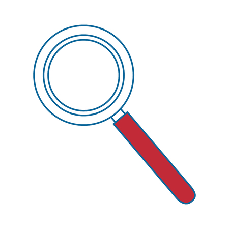 magnifying glass icon over white background colorful design vector illustration