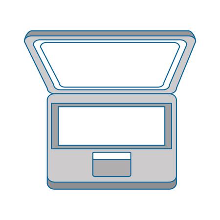 laptop computer icon over white background colorful design vector illustration Ilustração