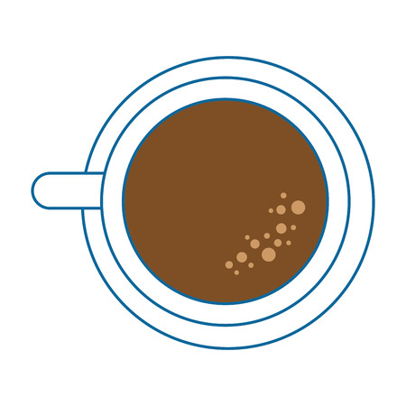 coffee mug icon over white background colorful design vector illustration 向量圖像