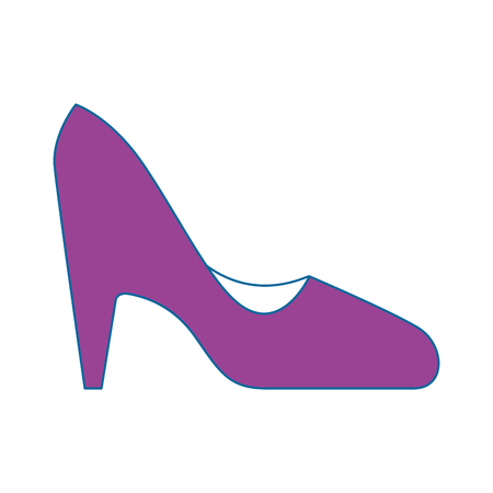 high heel shoes icon over white background colorful design vector illustration Ilustrace