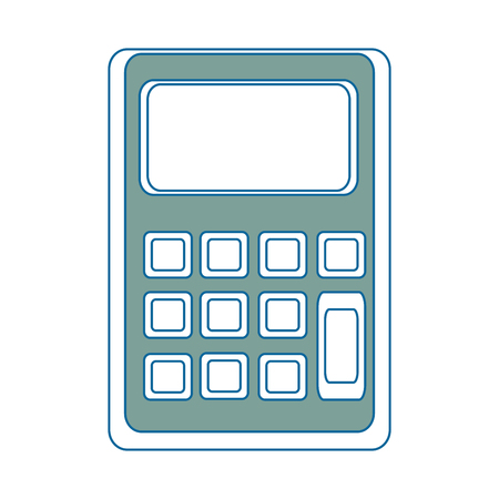 calculator icon over white background colorful design vector illustration Иллюстрация