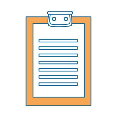 Rapport tabel icoon over witte achtergrond kleurrijke ontwerp vector illustratie Stock Illustratie
