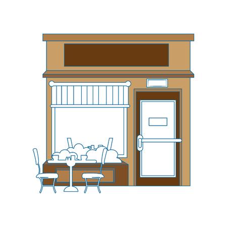 白地カラフルなデザイン ベクトル イラスト上のストア アイコン