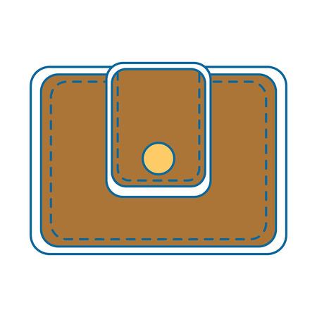 portefeuille pictogram op witte achtergrond kleurrijke ontwerp vector illustratie Stock Illustratie