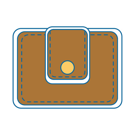 wallet  icon over white background colorful design vector illustration