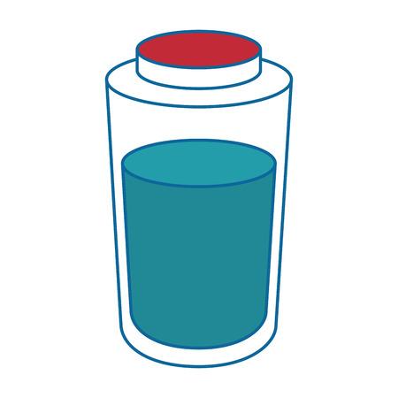 白地カラフルなデザインのベクトル図に水のボトルのアイコン  イラスト・ベクター素材