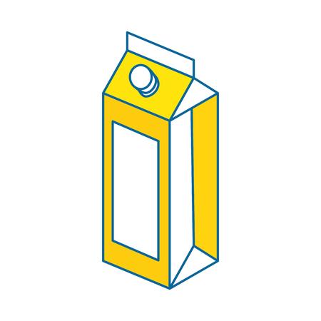 juice box icon over white background colorful design vector illustration