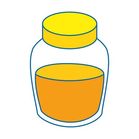 honey bottle icon over white background colorful design vector illustration
