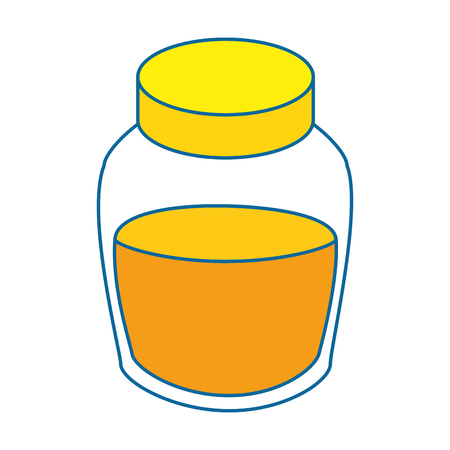 honey bottle icon over white background colorful design vector illustration