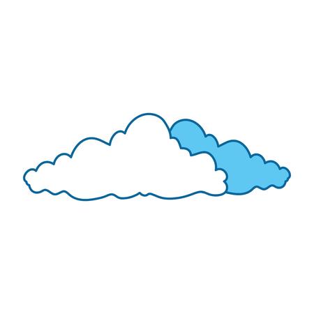 白地カラフルなデザインのベクトル図にある雲のアイコン