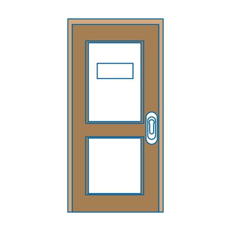 Deur pictogram over witte achtergrond kleurrijke ontwerp vectorillustratie Stockfoto - 81142599