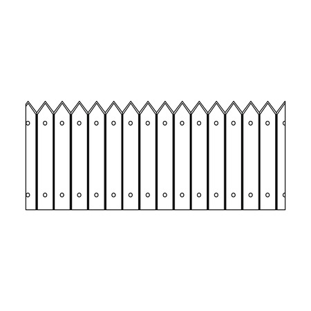 Clôture en bois icône sur fond blanc illustration vectorielle Banque d'images - 81142621