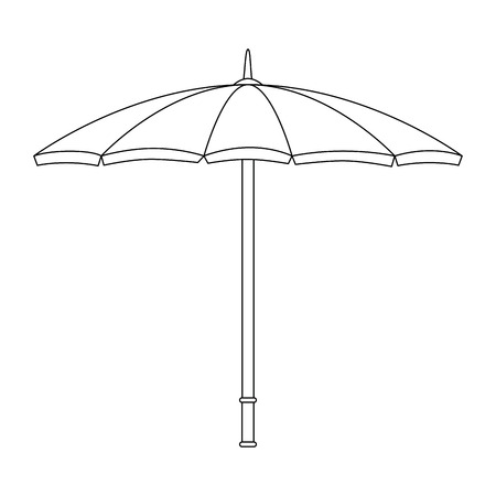 parasol icon over white background vector illustration 版權商用圖片 - 81142640