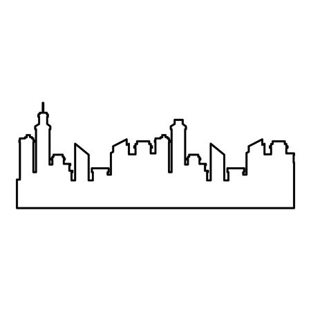 silhouette of city urban icon over white background vector illustration