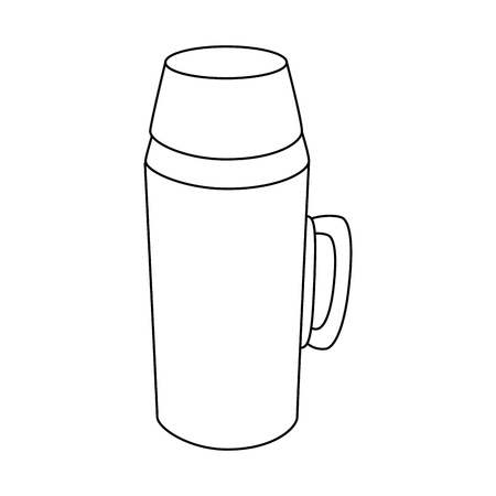 Coffee term icon over white background vector illustration Illustration