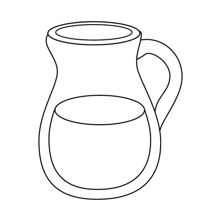 pitcher of water icon over white background vector illustration
