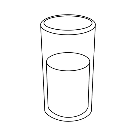 glass of water icon over white background vector illustration Imagens - 81142677