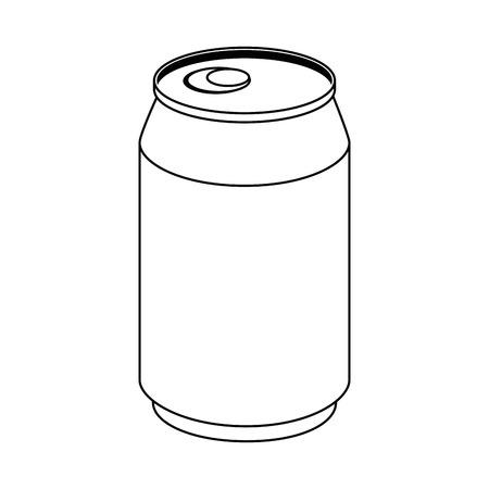 청량 음료 흰색 배경 벡터 일러스트 레이 션 위에 아이콘 수 있습니다. 일러스트