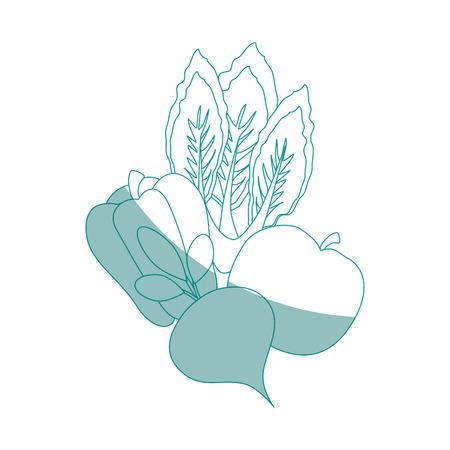 rode biet plantaardige pictogram over witte achtergrond vectorillustratie Stock Illustratie