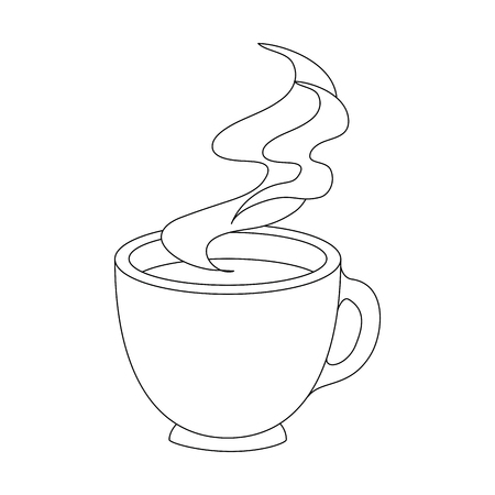 coffee mug icon over white background vector illustration Stock Vector - 81142853